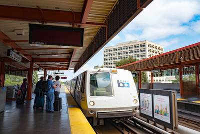 San Francisco train drags woman tethered to dog leash to death