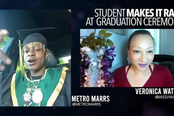 Atlanta student and rapper makes it rain at graduation
